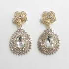 512397-201 Clear Crystal Earring in Gold