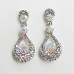 512399-101ab Clear Crystal Earring in Silver