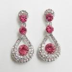 512399-109 Rose Crystal Earring in Silver
