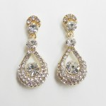 512399-201ab Clear Crystal Earring in Gold