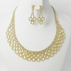 591427-201 Clear Crystal in Gold Necklace set
