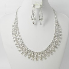 591428-101 Clear Crystal in Silver Necklace set