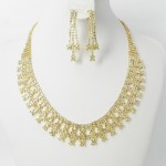 591428-201 Clear Crystal in Gold Necklace set