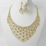 591429-201 Clear Crystal in Gold Necklace set