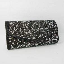 HS1512-102 Black  Evening Purse
