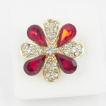 517318 Red  in Gold Ring