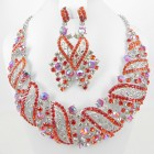 511203-107 Crystal Necklace Set in Red