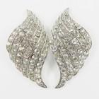 512389-101 Clear in Silver Earring