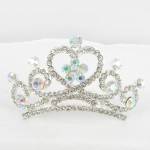 616041 Clear Crystal in Silver Hair Comb