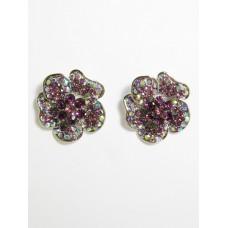 512158-105 Purple Earring in Silver