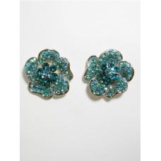 512158-110 Aqua Blue Earring in Gold