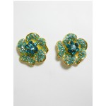 512158-210 Aqua Blue Earring in Gold