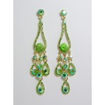 512141-206 Gold Crystal Earring in Green