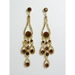 512141-208 Gold Crystal Earring in Topaz
