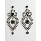 512017  Black Earring in Silver