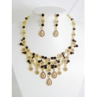 511115-205 Purple Necklace Set in Gold