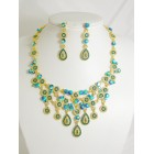 511115-213  Zirconia Necklace Set