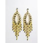 512265 Black Crystal Earring in Gold