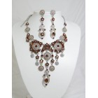 511110-108 Topaz Necklace Set in Silver
