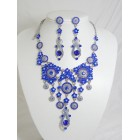 511110-110 Royal Blue Necklace Set in Silver