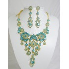 511110-210 Aqua Blue Necklace in Gold
