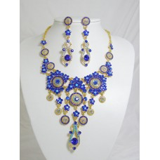 511110-215 Royal Blue Necklace in Gold