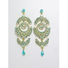 512273-210 Aqua Blue Earring in Gold