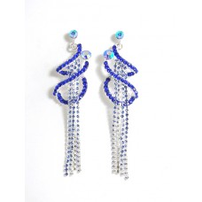 592265 Royal BLue Earring in Silver