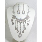 511084-101AB Silver Necklace Set in Silver