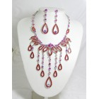 511084-107 Red Necklace Set in Silver