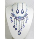 511084-115 Royal Blue Necklace in Silver