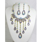 511084-215 Royal Blue Necklace Set in Gold