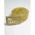 581008-201  Crystal Rhinestone Belt in Gold