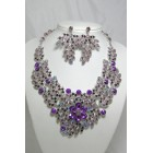 511123 Purple Necklace in Silver