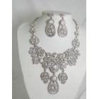 511127-101 Clear Necklace Set in Silver