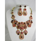 511127-207 Red Necklace Set in Gold