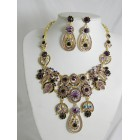 511127-216 Purple Necklace Set in Gold